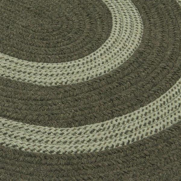 Colonial Mills Graywood 10-ft x 13-ft Moss Green Oval Indoor Handcrafted Area Rug
