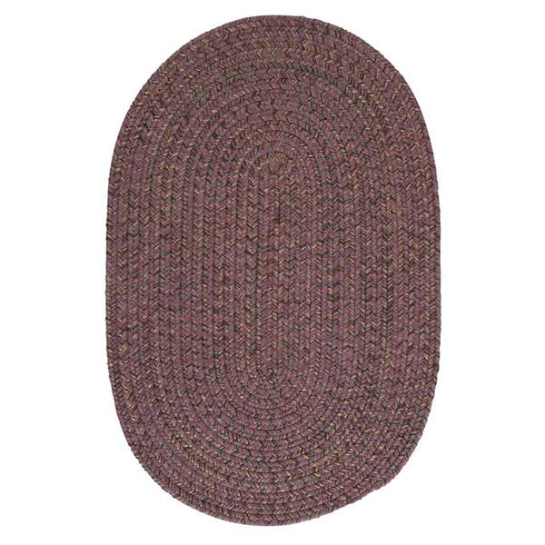 Colonial Mills Hayward 7-ft x 8-ft Round Plum Indoor Area Rug