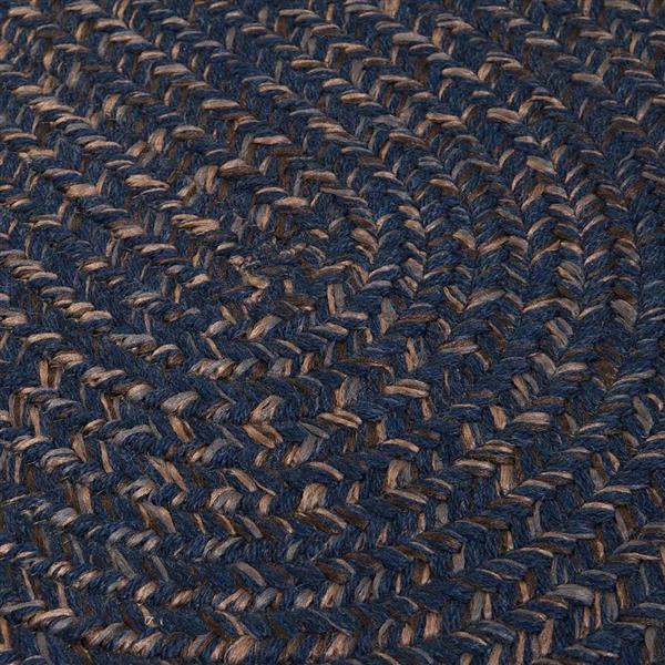 Colonial Mills Hayward 7-ft x 8-ft Round Navy Indoor Area Rug