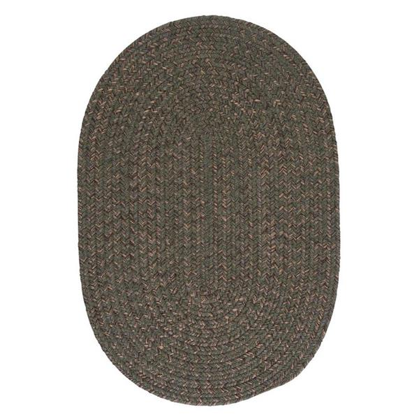 Colonial Mills Hayward 3-ft x 4-ft Round Olive Indoor Area Rug