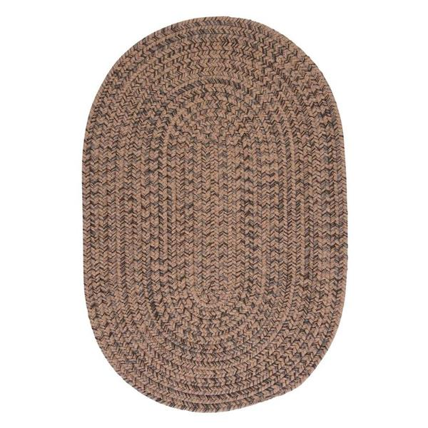 Colonial Mills Hayward 5-ft x 8-ft Oval Mocha Indoor Area Rug