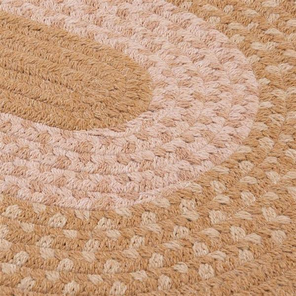 Colonial Mills Jackson 5-ft x 6-ft Round Evergold Indoor Area Rug