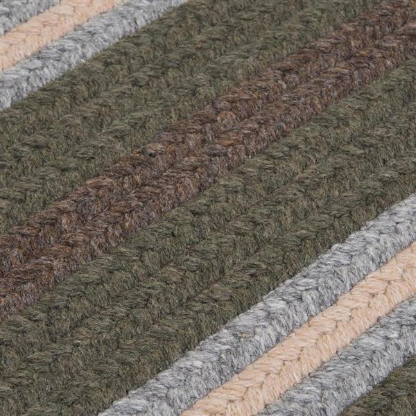 Colonial Mills Salisbury 6-ft x 6-ft Square Indoor Olive Area Rug