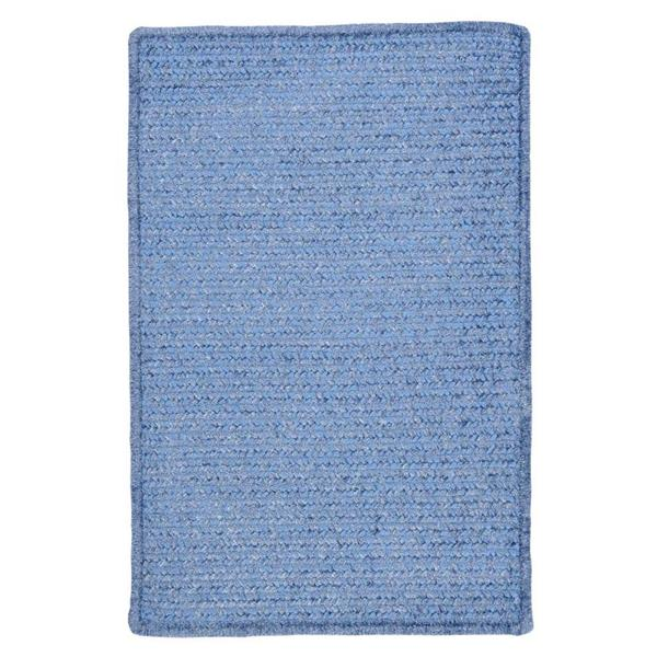 Colonial Mills Simple Chenille 8-ft x 11-ft Petal Blue Rectangular Indoor Handcrafted Area Rug