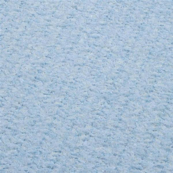 Colonial Mills Simple Chenille 4-ft x 4-ft Sky Blue Square Indoor Handcrafted Area Rug