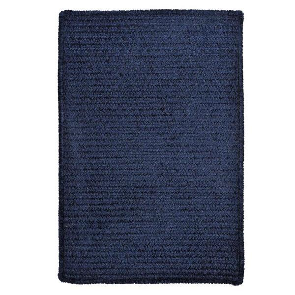 Colonial Mills Simple Chenille 3-ft x 5-ft Navy Rectangular Indoor Handcrafted Area Rug
