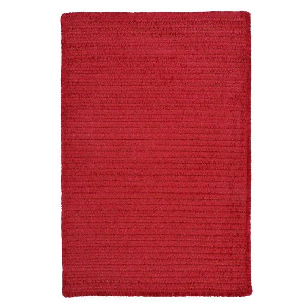 Colonial Mills Simple Chenille 2-ft x 6-ft Sangria Rectangular Area Rug
