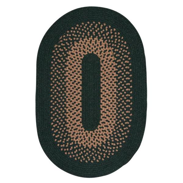 Colonial Mills Madison 8-ft x 11-ft Hancrafted Alpine Green Indoor Oval Area Rug