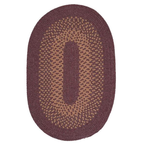 Colonial Mills Madison 3-ft x 5-ft Dark Plum Oval Area Rug
