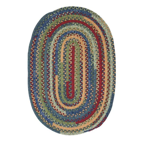 Colonial Mills Market Mix 7-ft x 9-ft Oval Indoor Sea Glass Area Rug