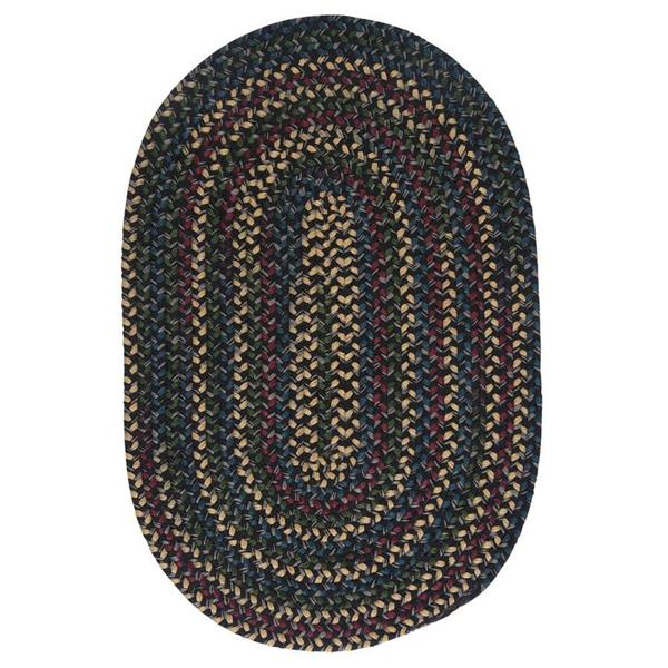 Colonial Mills Midnight 4-ft x 6-ft Carbon Oval