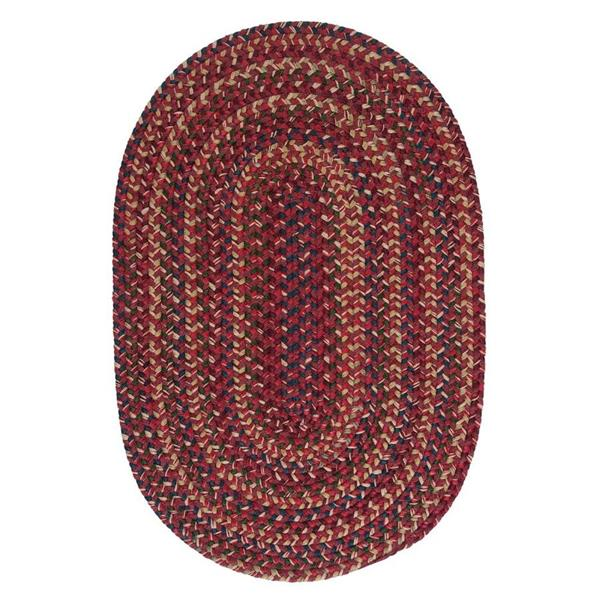 Colonial Mills Midnight 5-ft x 8-ft Oval Indoor Burnt Brick Area Rug