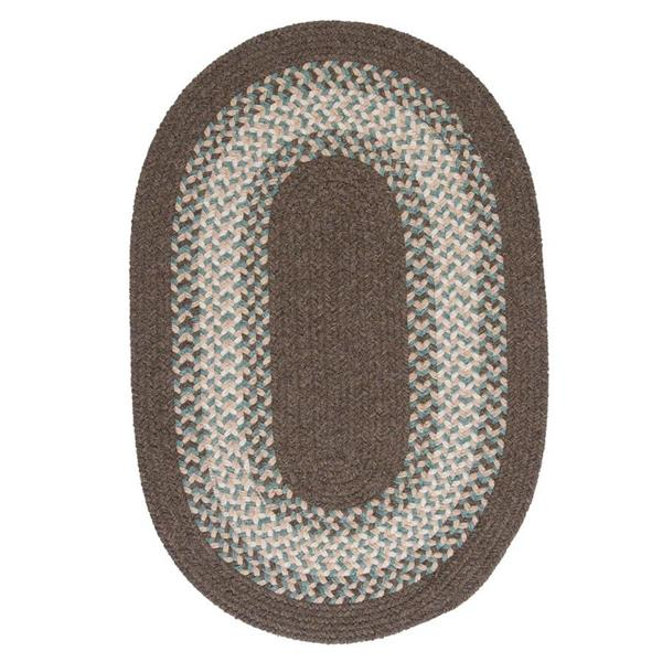 Colonial Mills North Ridge 8-ft x 11-ft Bark Oval Area Rug