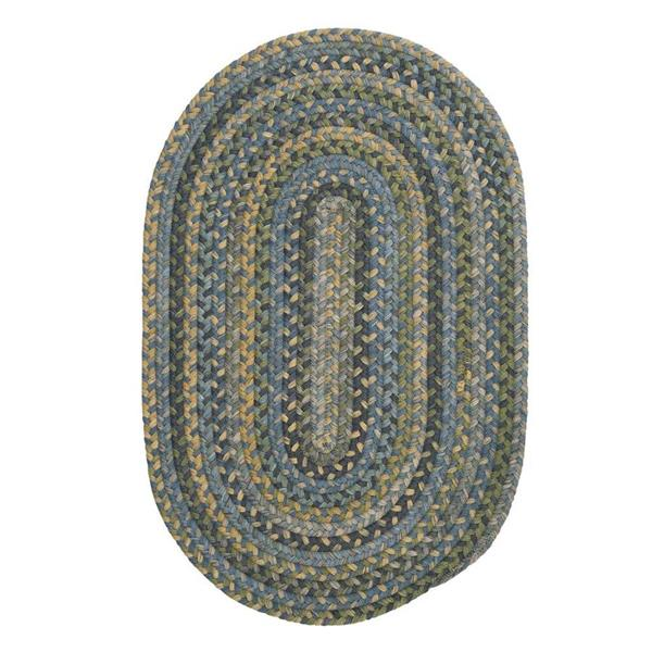 Colonial Mills Rustica 2-ft x 10-ft Whipple Blue Oval Runner