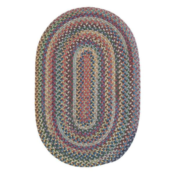 Colonial Mills Rustica 2-ft x 12-ft Classic Multi Oval Runner