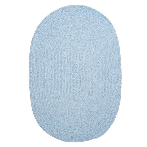 Colonial Mills Spring Meadow 7-ft x 9-ft Oval Indoor Sky Blue Area Rug