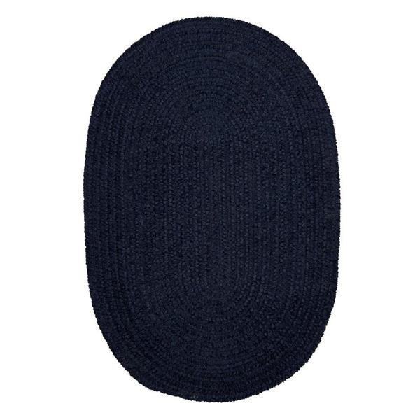Colonial Mills Spring Meadow 7-ft x 9-ft Oval Indoor Navy Area Rug