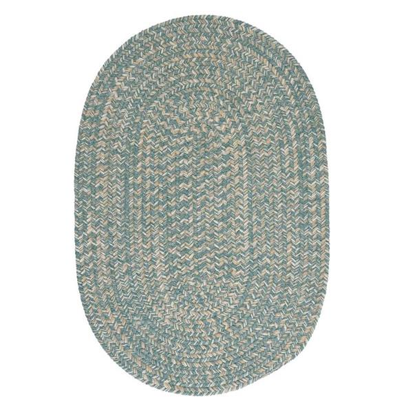 Colonial Mills Tremont 2-ft x 8-ft Teal Oval Runner