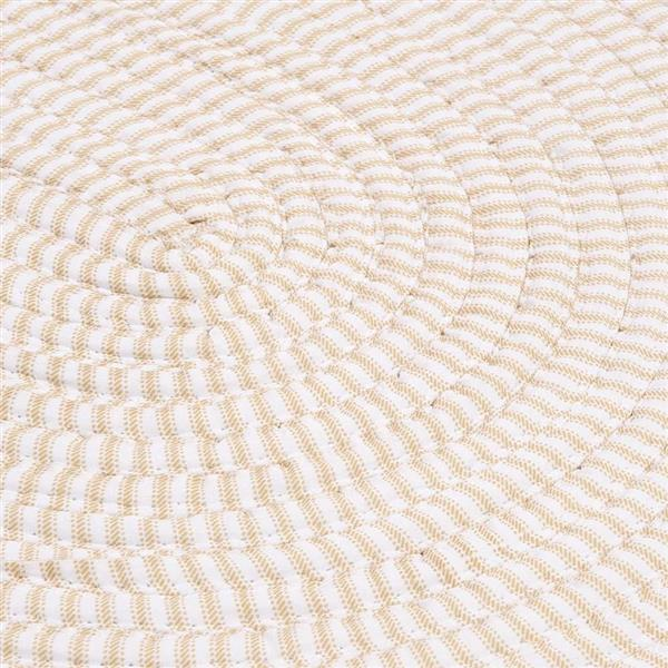 Colonial Mills Ticking Stripe 6-ft Round Indoor Canvas Area Rug