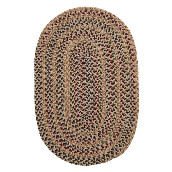 Colonial Mills Twilight 5-ft and 6-ft Oatmeal Handcrafted Round Area Rug