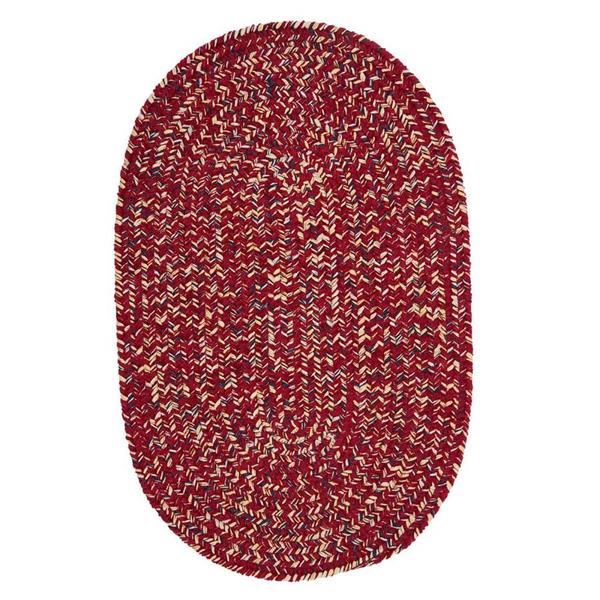 Colonial Mills West Bay 4-ft x 6-ft Oval Indoor Sangria Tweed Area Rug