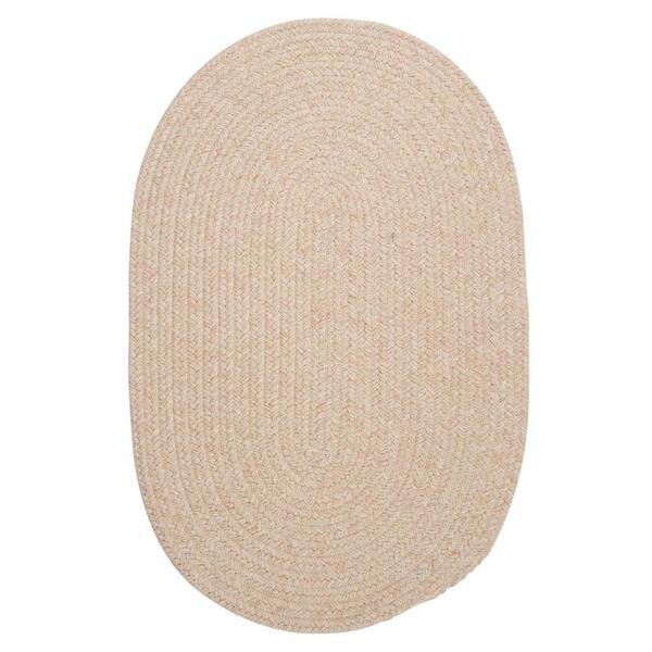 Colonial Mills Bristol 7-ft x 9-ft Natural Oval  Indoor Handcrafted Area Rug