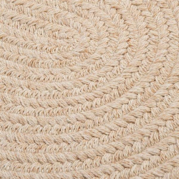 Colonial Mills Bristol 8-ft x 11-ft Natural Oval Indoor Handcrafted Area Rug