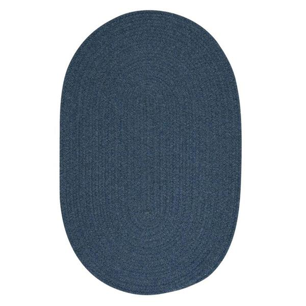 Colonial Mills Bristol 5-ft x 8-ft Oval Indoor Federal Blue Area Rug