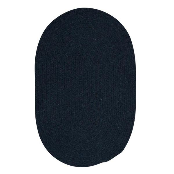 Colonial Mills Bristol 8-ft x 11-ft Oval Indoor Blue Moon Area Rug