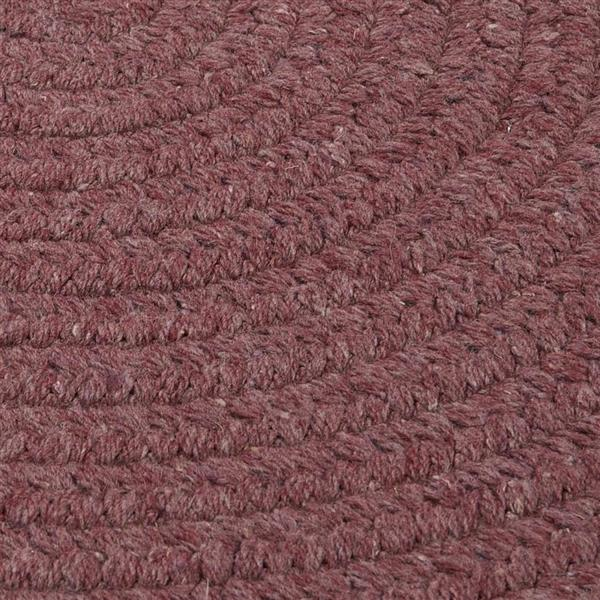Colonial Mills Bristol 7-ft x 9-ft Dark Plum Oval Area Rug