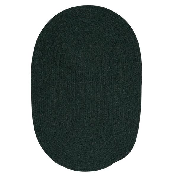 Colonial Mills Bristol 7-ft x 9-ft Dark Green Oval Area Rug