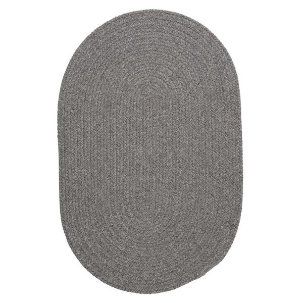 Colonial Mills Bristol 7-ft x 9-ft Gray Oval Area Rug