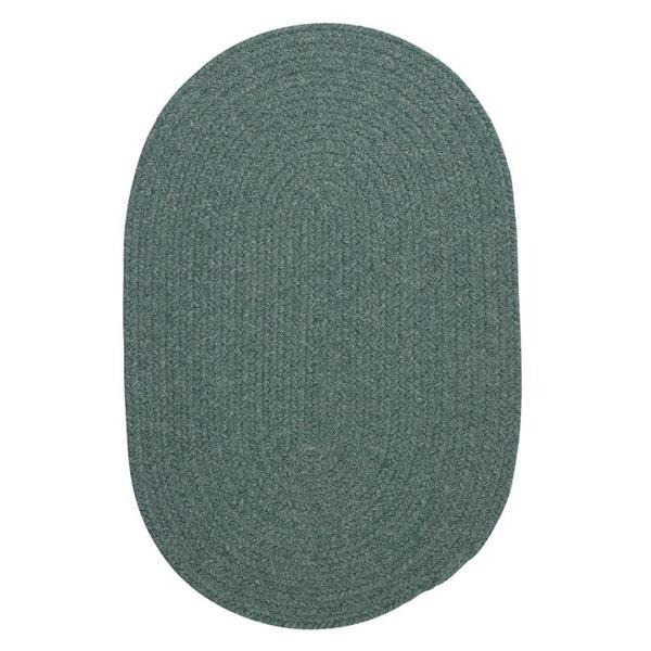 Colonial Mills Bristol 7-ft x 9-ft Oval Teal Area Rug