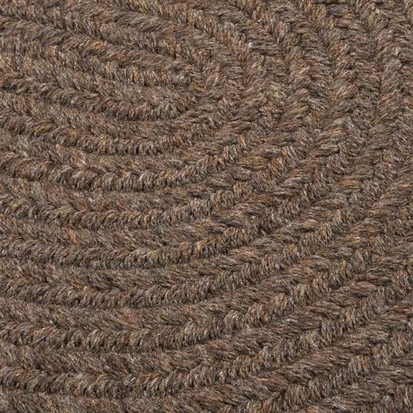 Colonial Mills Bristol 5-ft x 6-ft Round/Square Bark Area Rug