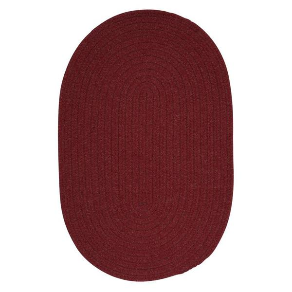 Colonial Mills Bristol 8-ft x 11-ft Oval Indoor Holly Berry Area Rug