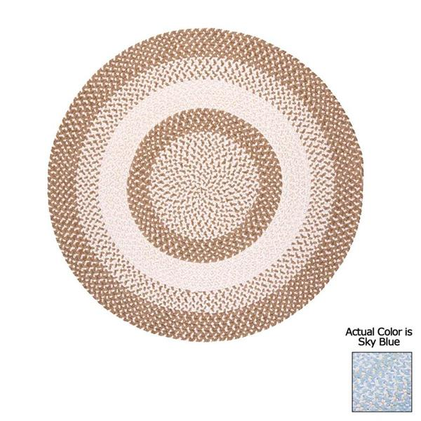 Colonial Mills Blokburst 6-ft Round Sky Blue Area Rug