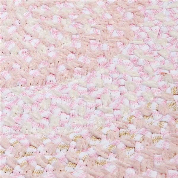Colonial Mills Blokburst 8-ft x 11-ft Oval, Blush Pink Area Rug