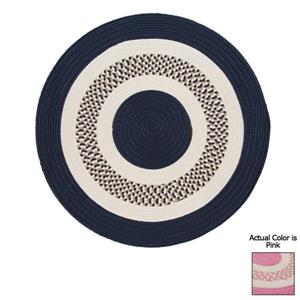 Colonial Mills Flowers Bay 4-ft Pink Round Indoor/Outdoor Reversible Area Rug