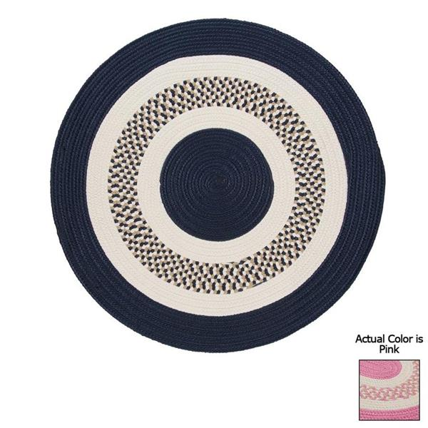 Colonial Mills Flowers Bay 8-ft Pink Round Indoor/Outdoor Reversible Area Rug