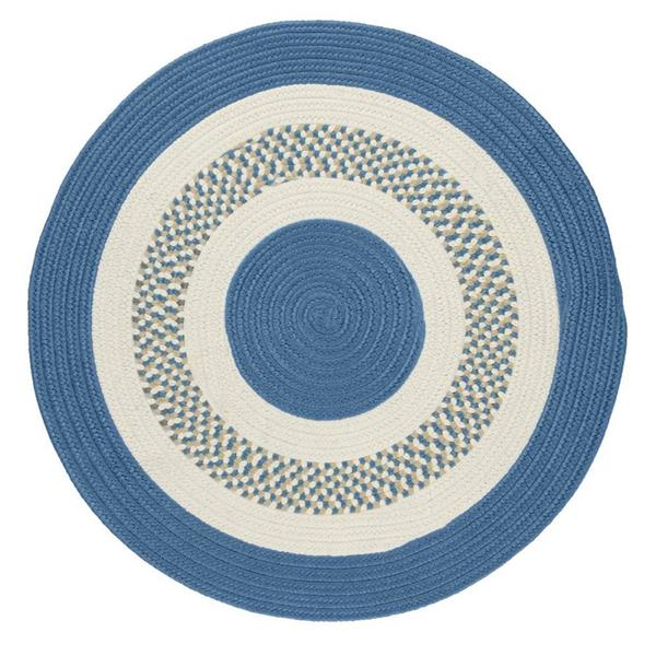 Colonial Mills Flowers Bay Round Area Rug, Blue