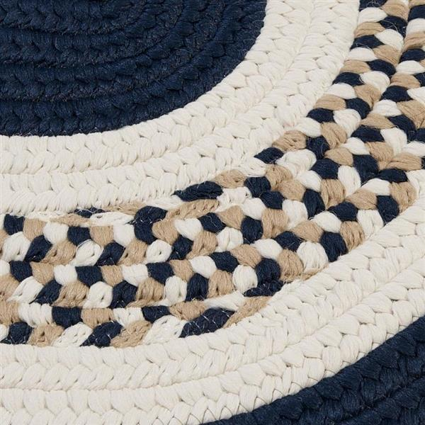 Colonial Mills Flowers Bay 5-ft x 8-ft Navy Oval Area Rug