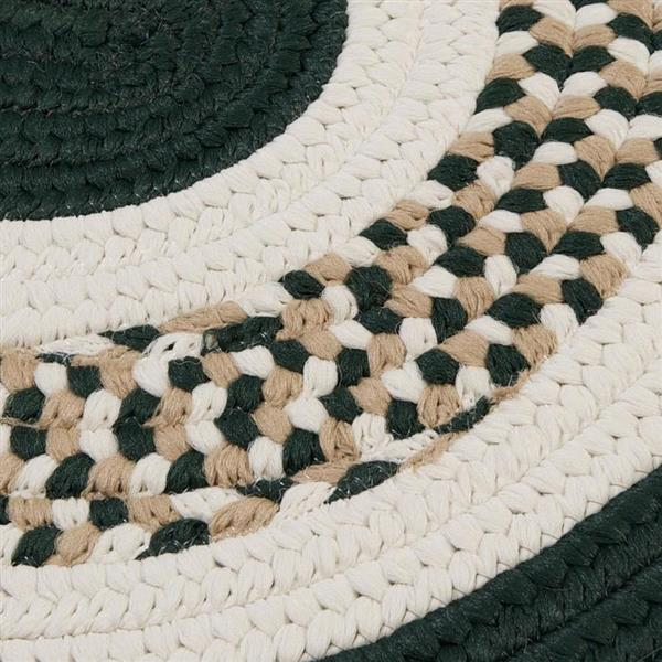 Colonial Mills Flowers Bay 2-ft x 8-ft Dark Green Oval Area Rug