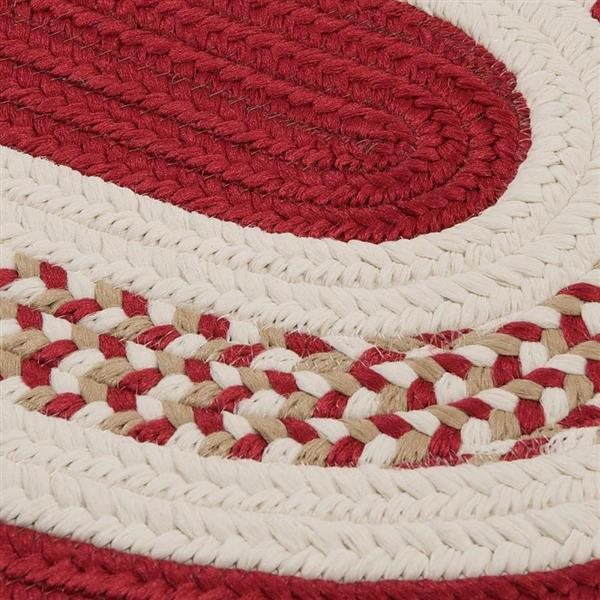 Colonial Mills Flowers Bay 4-ft x 6-ft Red Oval Area Rug