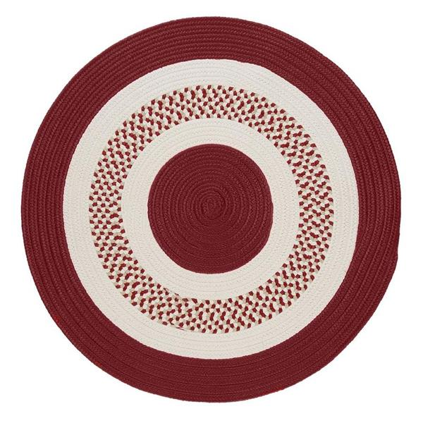 Colonial Mills Flowers Bay 6-ft Red Round Indoor/Outdoor Reversible Area Rug