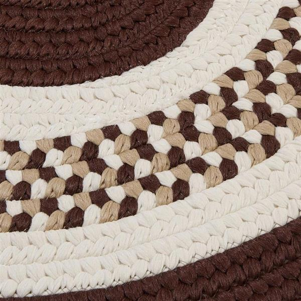 Colonial Mills Flowers Bay 2-ft x 10-ft Brown Oval Area Rug