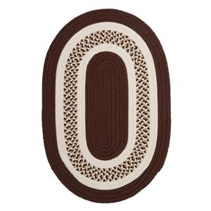 Colonial Mills Flowers Bay 5-ft x 8-ft Brown Oval Area Rug
