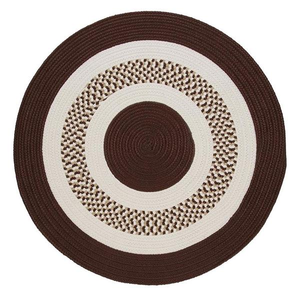 Colonial Mills Flowers Bay 6-ft x 6-ft Brown Round Area Rug