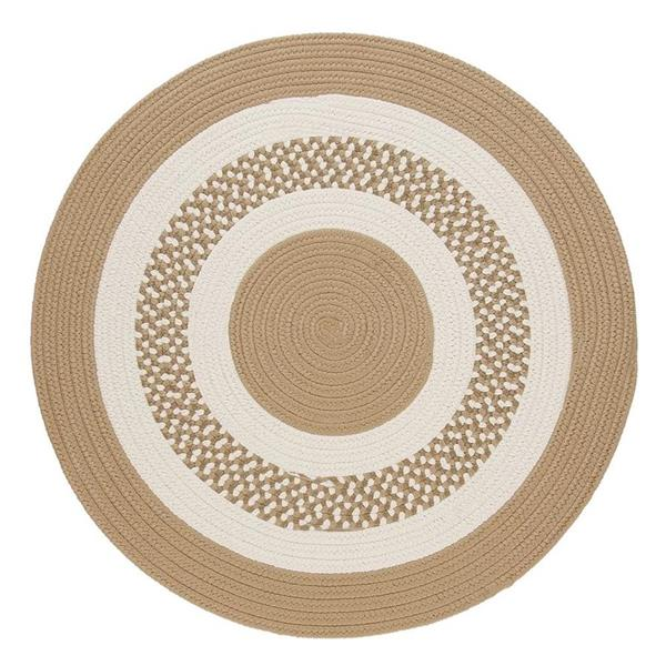 Colonial Mills Flowers Bay 8-ft Cuban Sand Round Indoor/Outdoor Area Rug