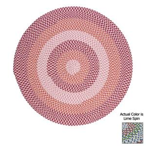 Colonial Mills Carousel 4-ft Lime Spin Round Area Rug