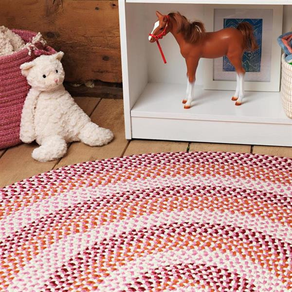 Colonial Mills Carousel 4-ft Ruby Pop Round Area Rug